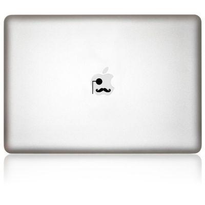 Apfelkleber Gentleman Aufkleber-Folie für MacBook schwarz