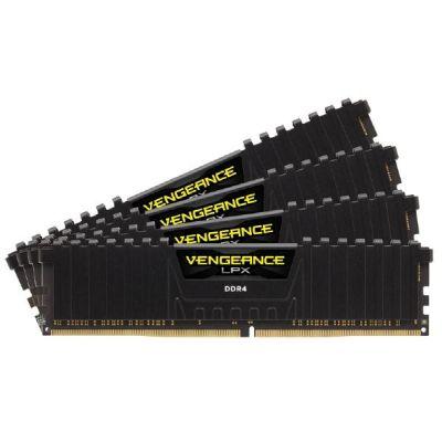 Corsair 16GB (4x4GB)  Vengeance LPX DDR4-2666 CL15 (15-17-17-35) DIMM-Kit Schwarz