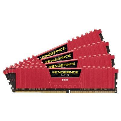 Corsair 16GB (4x4GB)  Vengeance LPX DDR4-2800 CL16 (16-18-18-36) DIMM-Kit Rot
