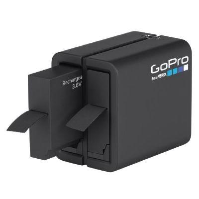 GoPro  Akku-Ladegerät mit 2 Anschlüssen für HERO4 inkl. Ersatzakku (AHBBP-401)