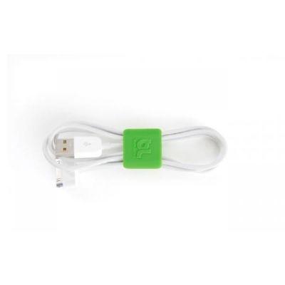 Bluelounge  CableClip Kabelbinder klein grau / grün