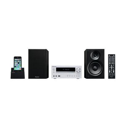 .Pioneer X-HM32V-S  Micro HiFi-System mit USB, HDMI, CD+DVD, Bluetooth, silber