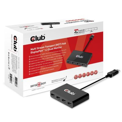 Club3d Club 3D MST Hub DisplayPort 1-4 + 1x MiniDP Adapter CSV-5400