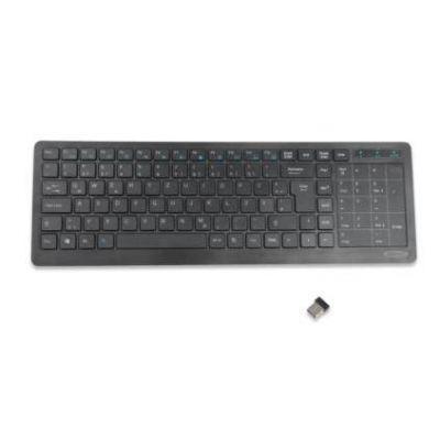 ednet kabellose Tastatur mit Touchpad schwarz