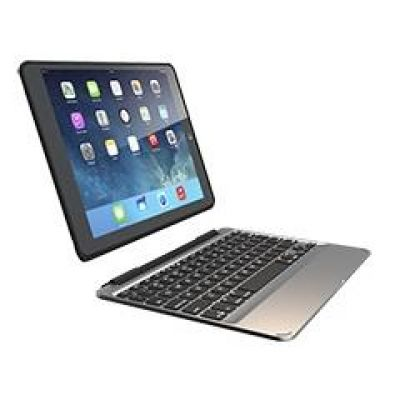 ZAGGkeys Slim Book Case für iPad Air 2 (Deutsch) schwarz