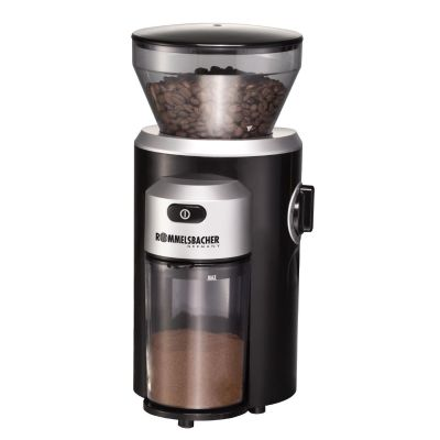 Rommelsbacher EKM 300 Kaffeemühle mit Kegelmahlwerk Schwarz/Silber