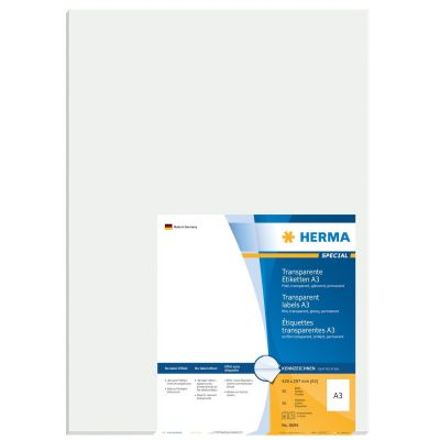 HERMA 8694 A3 Outdoor Klebefolie 297x420 mm transpar extrem stark haftend 50Stk. - Preisvergleich
