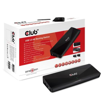 Club3d Club 3D Sense Vision 4K Docking Station USB3.0 CSV-3103D