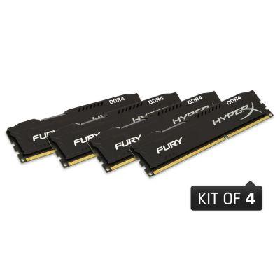 HyperX 16GB (4x4GB)  Fury schwarz DDR4-2133 CL14 RAM Kit