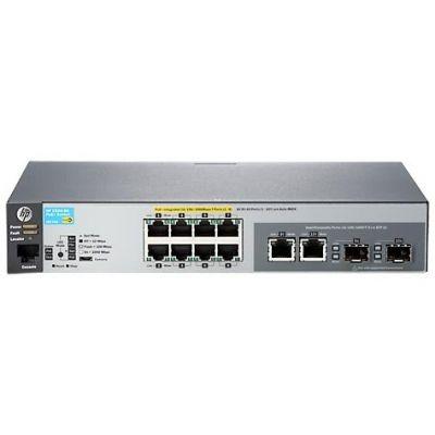 HP Enterprise Aruba 2530-8G-PoE+ 8x Gigabit Switch Managed (8x Gbit PoE+, 2x Kombi-Gbit-SFP)