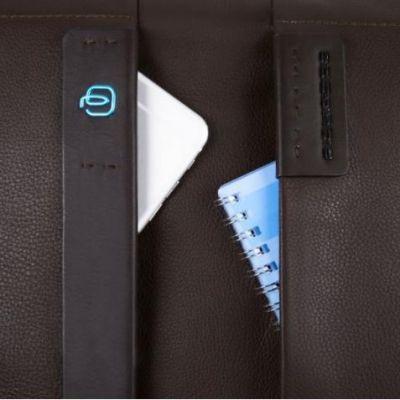 Piquadro Pulse Doppelgriff-Laptoptasche bis 15,6 zoll braun