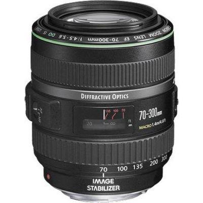Canon  EF - Telezoomobjektiv - 70 mm - 300 mm - f/4.5-5.6 DO IS USM -  EF - für EOS 1000, 1D, 50, 500, 5D, 7D, Kiss F, Kiss X2, Kiss X3, Rebel T1i