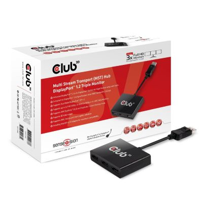 Club3d Club 3D MST Hub DisplayPort 1-3 + 1x MiniDP Adapter CSV-5300A