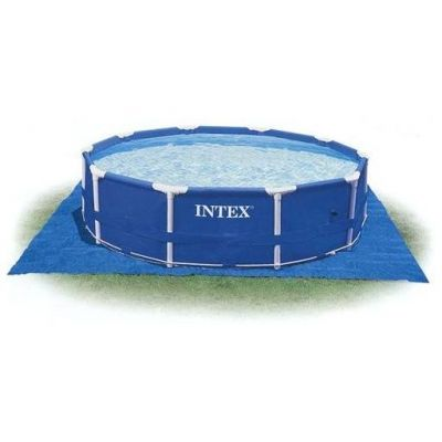 Intex Bodenschutzplane für Pools 472x472cm, Schutzfolie