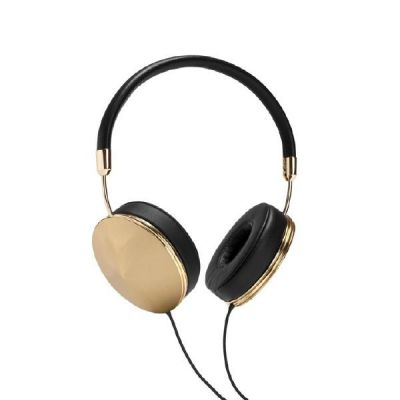 Frends Taylor Black and Gold Over Ear Kopfhörer mit Headsetfunkt. – Schwarz/Gold