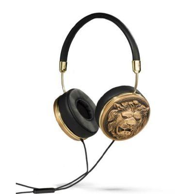 Frends Taylor Supertrash Over Ear Kopfhörer mit Headsetfunkt. – Schwarz/Goldlion