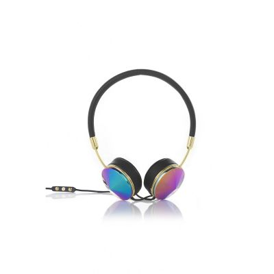 Frends Layla Oilslick On Ear Kopfhörer mit Headsetfunkt. – Schwarz/Oilslick
