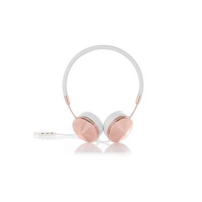 Frends Layla White/Rosegold On Ear Kopfhörer mit Headsetfunkt. – Weiß/Roségold