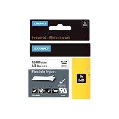 DYMO  - Flexibles Nylonband - Schwarz auf Weiß - Roll (1.2 cm x 3.5 m) - 1 Rolle(n) - für  1000 Plus, LabelMANAGER 100, Rhino 4200, 6000, 6000 Hard