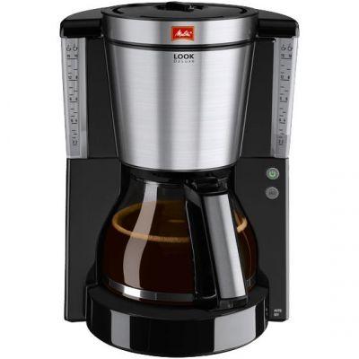 Melitta  Look DeLuxe 1011-06 Kaffeemaschine schwarz-Edelstahl
