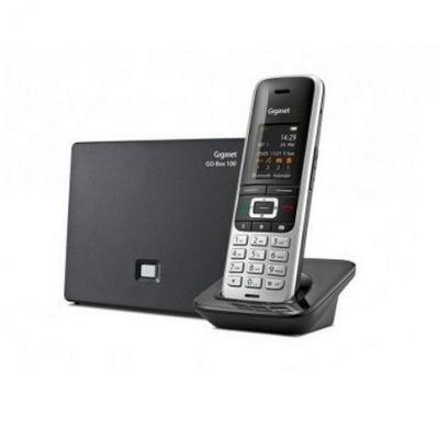 Gigaset S850A GO Festnetztelefon, AB, PC-Anschluss (analog), platin/schwarz
