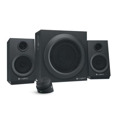 Logitech Z333 2.1 Multimedia Stereo Lautsprechersystem mit Subwoofer 980-001202 - Preisvergleich