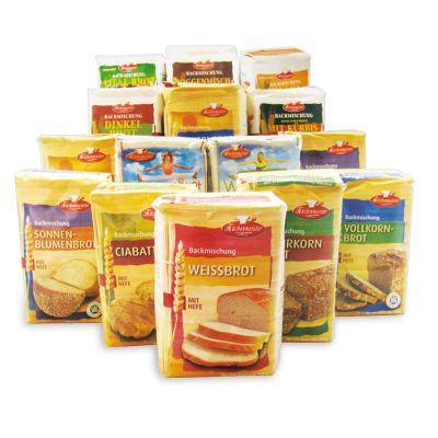 15teiliges Brotbackmischung-Kennenlern-Set