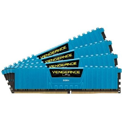 Corsair 16GB (4x4GB)  Vengeance LPX Blau DDR4-2133 RAM CL13 (13-15-15-28)