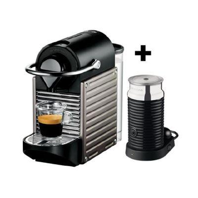 Krups  XN 301T Nespresso Pixie + Aeroccino3 Electric Titan