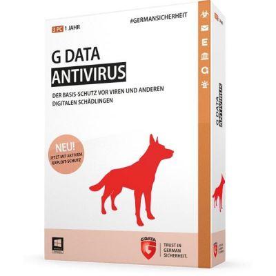 G Data G DATA AntiVirus 3 User 1 Jahr - ESD