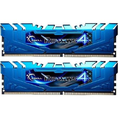 G Skill 16GB (2x8GB) G.Skill Ripjaws 4 Blau DDR4-3000 CL15 (15-15-15-35) RAM DIMM Kit