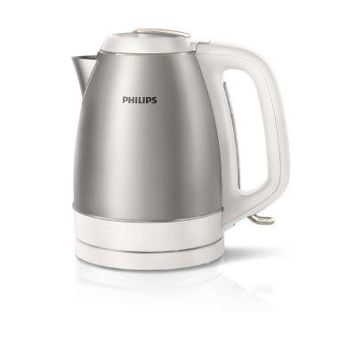 HD9305/00 Wasserkocher 1,5l Edelstahl Weiß