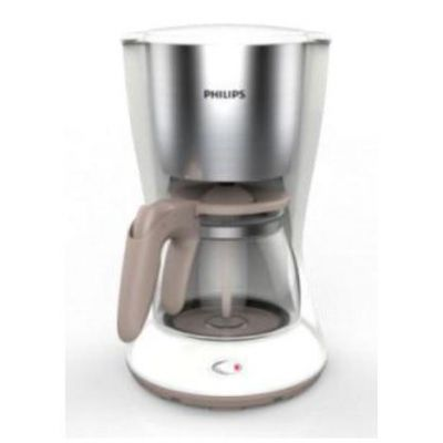 Philips HD7462/01 Daily Collection Kaffeemaschine Armoa Swirl Weiß Edelstahl