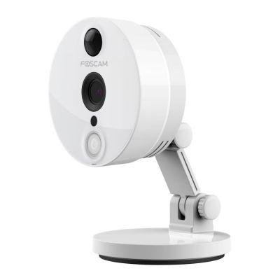 Foscam  C2 Wireless Netzwerkkamera für Innen HD 1080p Plug&Play 8-fach Zoom weiß