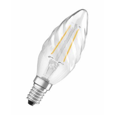 Osram E14 2W 827 Retrofit LED-Kerzenlampe gedreht