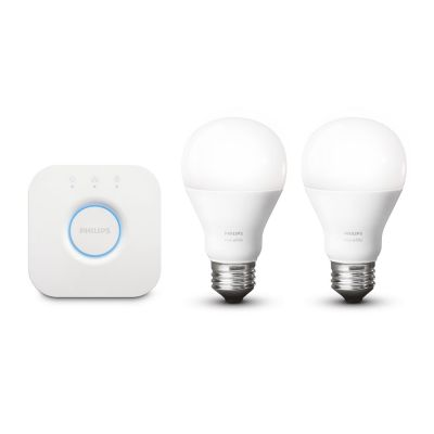 Philips Hue White Starter Set - 2 x 9,5 W A60 E27 inkl. Bridge 2.0