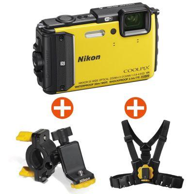 Nikon Coolpix AW130 Unterwasserkamera gelb Outdoor Kit