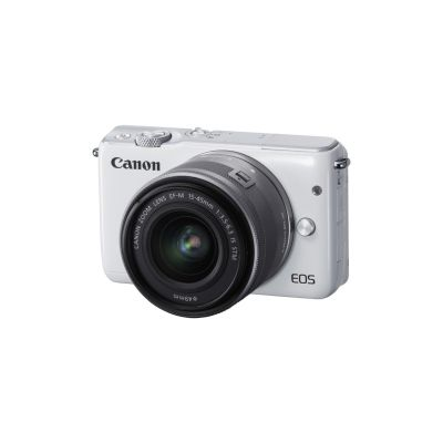 Canon  EOS M10 Kit EF-M 15-45mm IS STM Systemkamera weiß