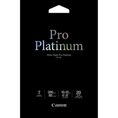 Canon 2768B013 PT-101 10x15 cm, 20 Blatt Pro Platinum 300 g Fotopapier