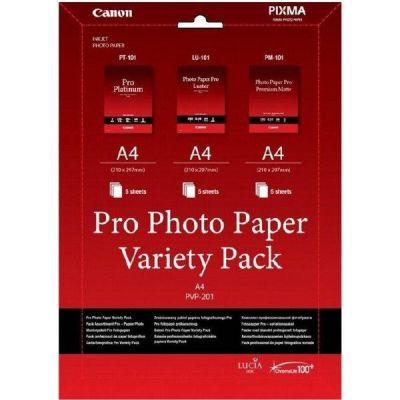 Canon 6211B021 PVP-201 Pro Fotopapier Multi-Pack A4 3x5 Blatt - Preisvergleich