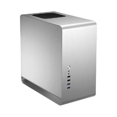 Cooltek  Jonsbo UMX3 Midi Tower mATX Gehäuse, USB3.0, silber, ohne Netzteil