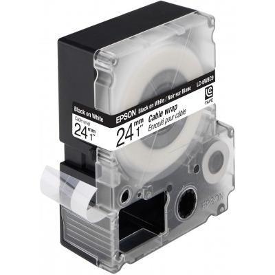 Epson C53S627404 LC-6WBC9 - Bandetiketten - Schwarz auf Weiß - Preisvergleich