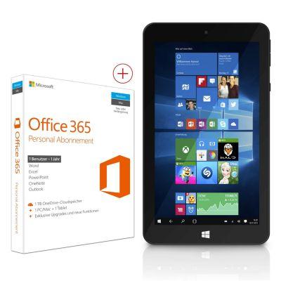 TrekStor SurfTab® wintron 7.0 16 GB WiFi Win 10 schwarz + Office 365 Personal