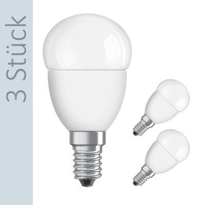 LED Star Classic P40 Tropfen 6W (40W) E14 matt warmweiß (3er Pack)
