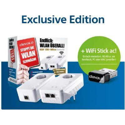 Devolo devolo dLAN 1200+ WiFi ac Starter Kit inkl. WiFi Stick ac