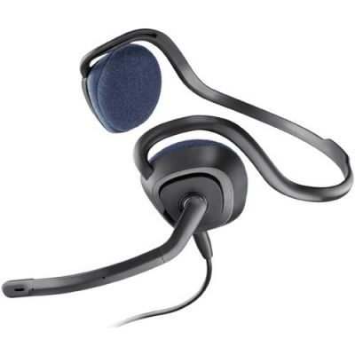 Plantronics .Audio 648 kabelgebundenes Stereo USB Headset Nackenbügel schwarz