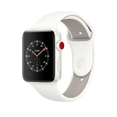 Apple Watch Edition Series 3 LTE 38mm Keramikgehäuse Weiß Sportarmband Weiß