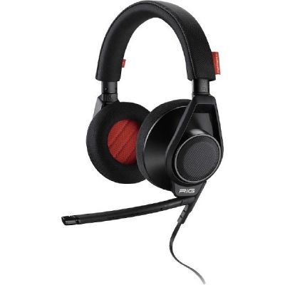 Plantronics RIG FLEX kabelgebundenes Stereo Gaming Headset schwarz rot