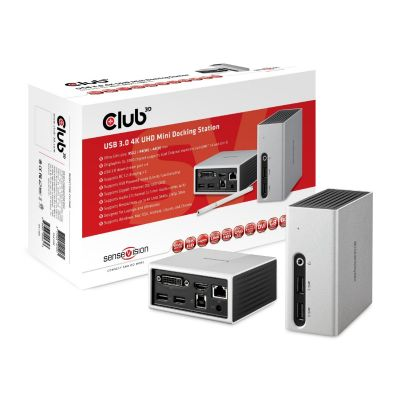 Club3d Club 3D SenseVision 4K UHD Mini Docking Station USB3.0 CSV-3104D