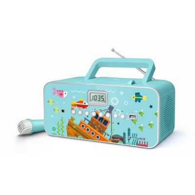 M-29 KB Kinder CD-Radio mit FM/MW PLL Tuner CD MP3 Mikrofon - Kids Blau